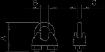 Схема Зажим для крепления троса — арт.: 5302021