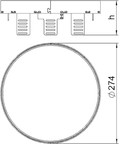 Схема Регулируемый ревизионный люк RKRNUZD3, из нержавеющей стали — арт.: 7409148