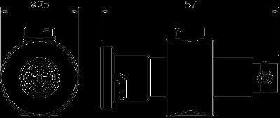 Схема Коаксиальное устройство защиты для разъема BNC: штекер/розетка — арт.: 5093252