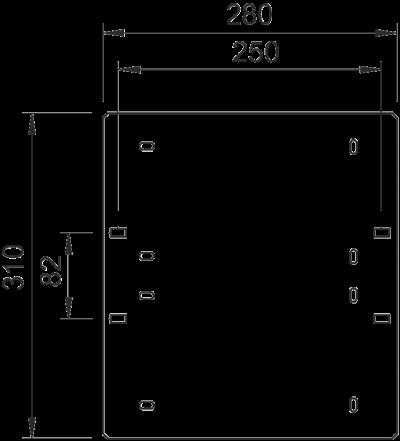 Схема Монтажная пластина GP 31 — арт.: 6357016