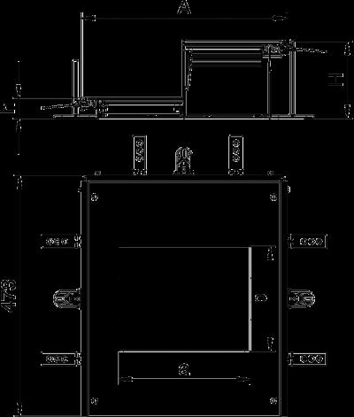 Схема Монтажная секция с крышкой для лючка GES6, высота 60 — 110 мм — арт.: 7424902