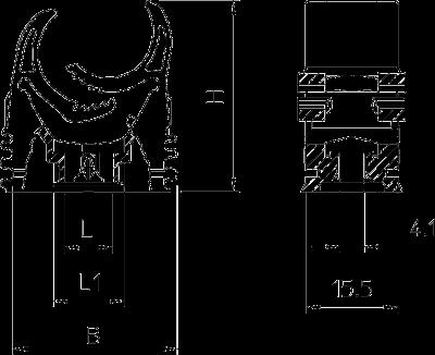 Схема Зажим Multi-Quick с метрической резьбой — арт.: 2153718