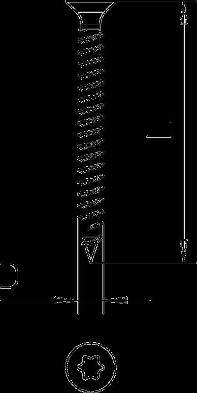 Схема Шуруп Sprint со шлицем Torx — арт.: 3198193