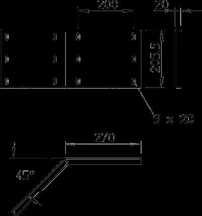 Схема Угловой соединитель 45° горизонтальный, внешний — арт.: 6232604