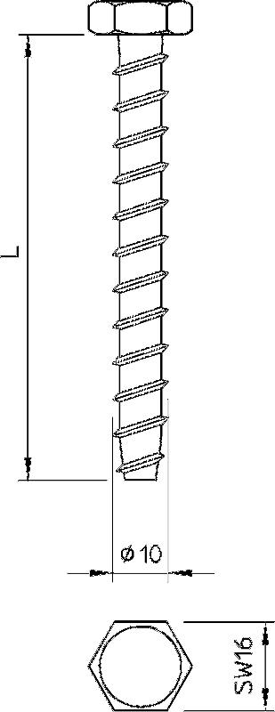 Схема Огнестойкий винтовой анкер — арт.: 3498123