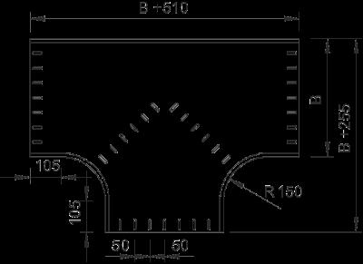 Схема Т-образная секция 400-550 мм — арт.: 7003692