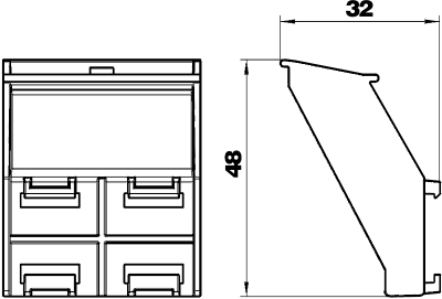 Схема Держатель гибкого канала для настольного бокса DB — арт.: 6116991