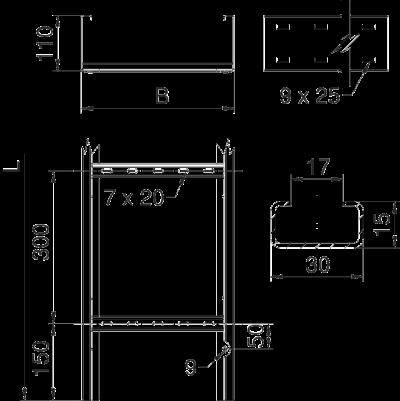 Схема Кабельный лестничный лоток WKLG 110 для больших расстояний — арт.: 6311008