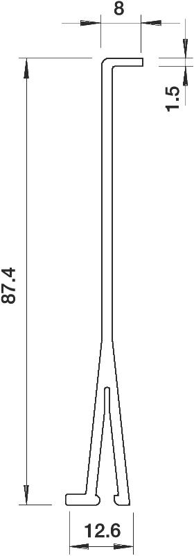 Схема Разделительная перегородка для кабельных коробов высотой 100 мм — арт.: 6026990
