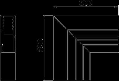 Схема Плоский угол восходящий, для кабельного короба высотой 70 мм — арт.: 6279423