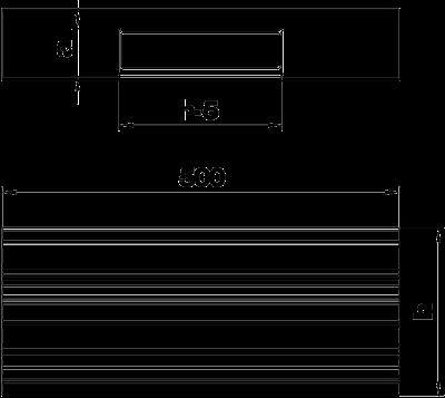 Схема Т-образная секция для кабельного короба высотой 90 мм — арт.: 6279663