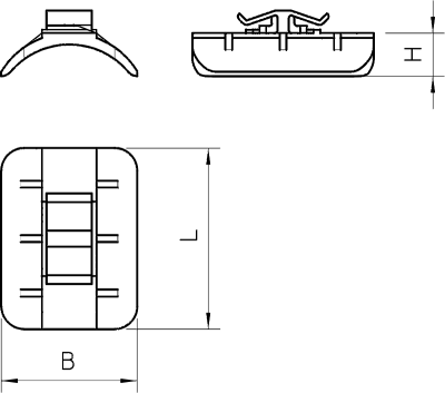 Схема Пластиковая прижимная пластина, ширина шлица 16 — 17 мм — арт.: 1195123