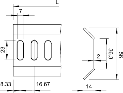 Схема Перекладина стандартная — арт.: 7102674