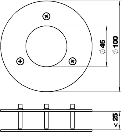 Схема Потолочная накладка для электромонтажной колонны ISSRM45F — арт.: 6290269