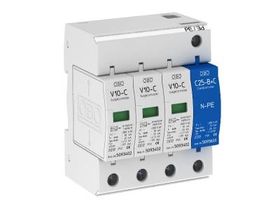 Разрядник для защиты от перенапряжений 3-полюсный + NPE — арт.: 5094920