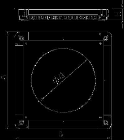 Схема Монтажное основание UGD350-3 с крышкой для лючка GESR9/55 — арт.: 7410064