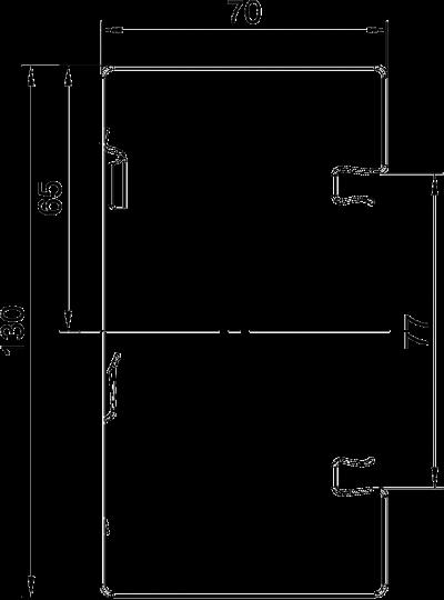 Схема Стальной кабельный короб Rapid 80 высотой 70 мм — арт.: 6277200
