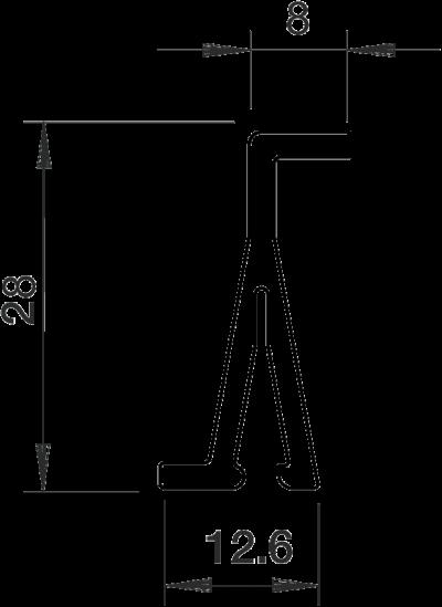 Схема Разделительная перегородка для кабельных коробов высотой 40 мм — арт.: 6175500