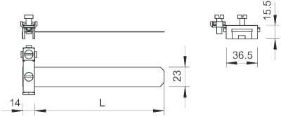 Схема Ленточная заземляющая скоба из нержавеющей стали — арт.: 5057515