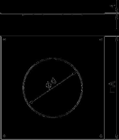 Схема Крышка монтажного основания 250-3 с отверстием для лючка GESR4 — арт.: 7400471