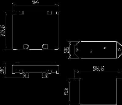 Схема Крышка и суппорт для монтажа защитного устройства в блоках питания VHF — арт.: 6109850