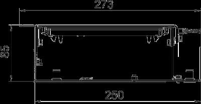 Схема Секция кабельного канала со щеточной планкой, без регулируемых опор — арт.: 7403816