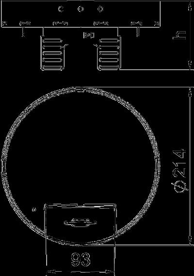 Схема Регулируемая кассетная рамка RKSRNUZD3 с кабельным выводом, из нержавеющей стали — арт.: 7409288