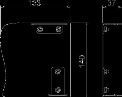 Схема Торцевая заглушка Swing левая — арт.: 6115915