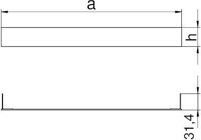 Схема Торцевая заглушка кабельного канала — арт.: 7403984