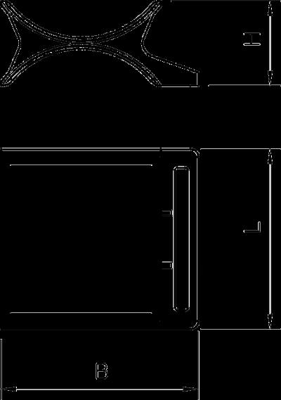 Схема Двойная прижимная пластина, пластиковая — арт.: 1196162
