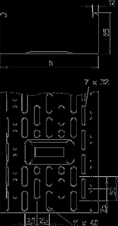 Схема Листовой кабельный лоток DKS — арт.: 6086470