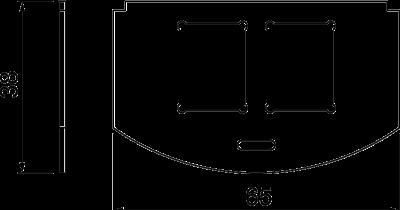 Схема Суппорт для 2х телекоммуникационных модулей типа C — арт.: 7408806