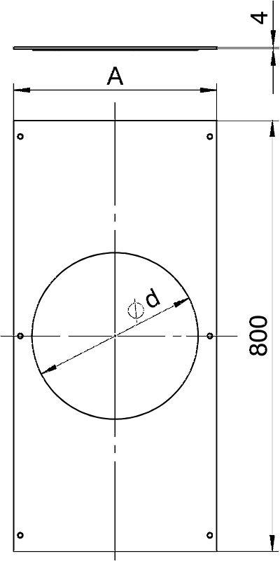 Схема Крышка с отверстием для лючка GESR9, 800 мм — арт.: 7402068