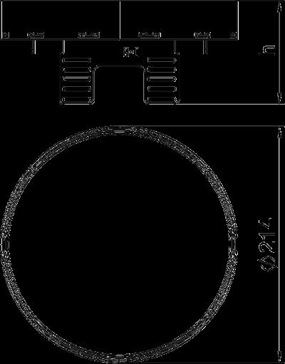 Схема Регулируемый ревизионный люк RKRNUZD3, из латуни — арт.: 7409132