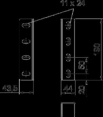Схема Соединитель U-образной стойки — арт.: 6018505