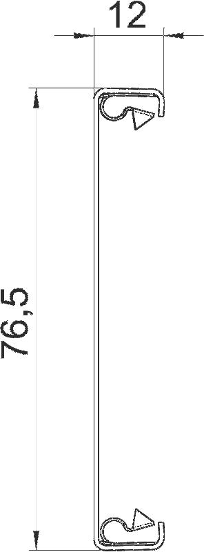 Схема Стальная крышка для кабельного короба Rapid 80 с системным отверстием 80 мм — арт.: 6279850