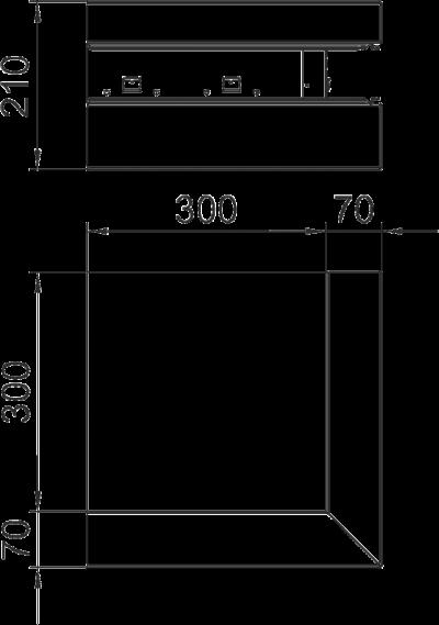 Схема Внешний угол для кабельного короба высотой 70 мм — арт.: 6278010
