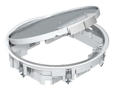 Круглый лючок GESR7/10 из литого алюминия, с ручкой — арт.: 7405544
