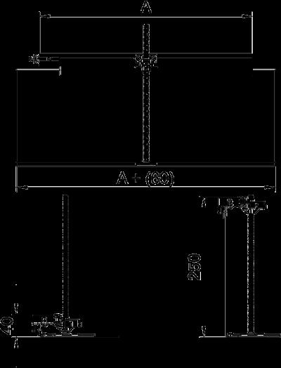 Схема Комплект для углового ответвления кабельного канала налево, высота 40 — 240 мм — арт.: 7423960