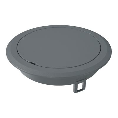 Лючок GES R2 с глухой крышкой, без выемки для фрагмента напольного покрытия, пластиковый — арт.: 7405086