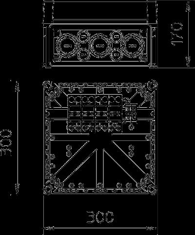 Схема Корпус VG с разрядником MC 50-B/3+1 — арт.: 5089200