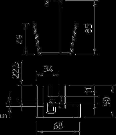 Схема Центральный потолочный подвес — арт.: 6358810
