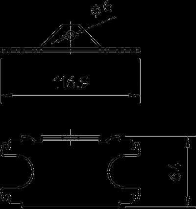 Схема Крепежный угол для электромонтажной колонны ISST70140 — арт.: 6290150