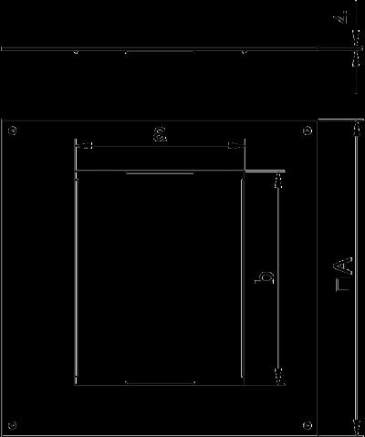 Схема Крышка монтажного основания 350-3 с отверстием для лючка GES6 — арт.: 7400509