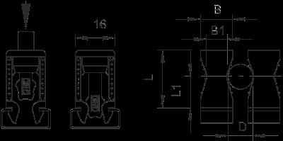 Схема Винтовая скоба, ширина шлица 11 — 12 мм — арт.: 2251256