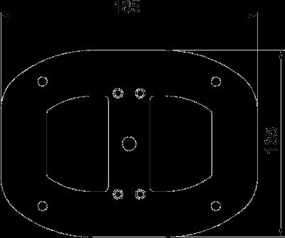 Схема Напольная пластина для электромонтажной колонны ISSDM45 — арт.: 6290347