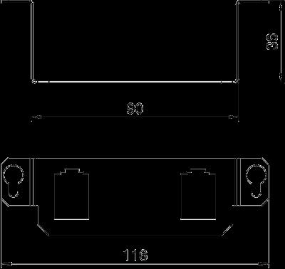 Схема Суппорт для 2х телекоммуникационных модулей типа B — арт.: 7407847