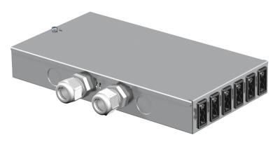 Энергораспределитель UVS с фиксированным 5-полюсным подключением, с 6 3-полюсными гнездовыми разъемами черного и белого цвета — арт.: 6108010