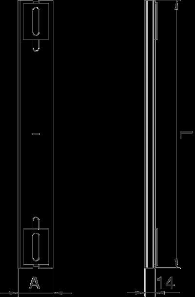 Схема Опора для кабельного канала шириной 350 мм — арт.: 7399912