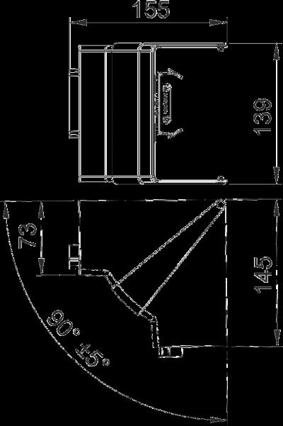 Схема Крышка внутреннего угла, регулируемая — арт.: 6274640